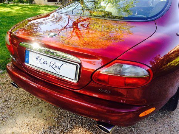 Traitement céramique cire-et-polish-jaguar-xks-rouge-metal