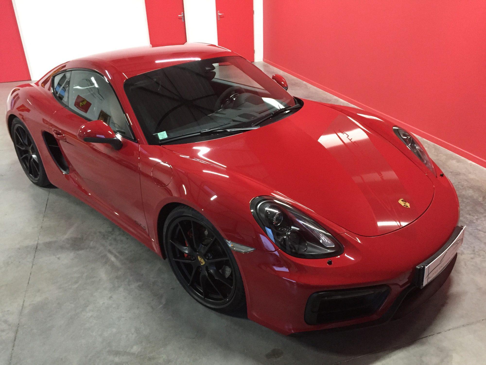 Porsche Cayman GTS Rouge Indien