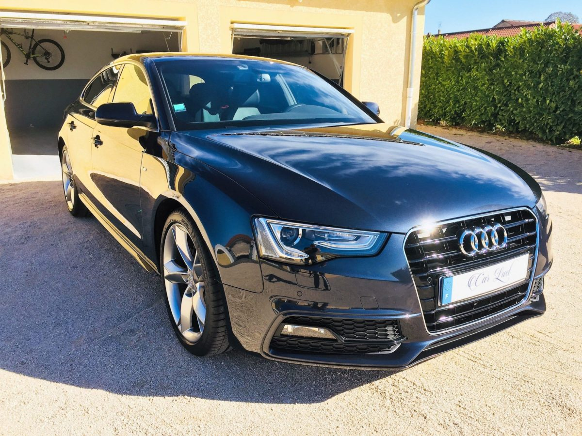 Audi A5 poli mirroir