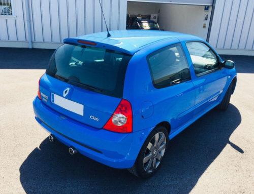 A vendre Clio RS 2 ph3 182cv bleu dynamo