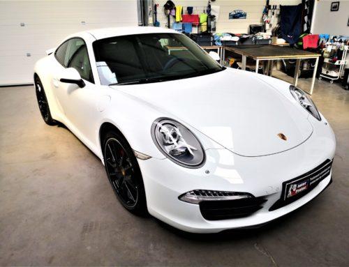 Porsche 991 blanche